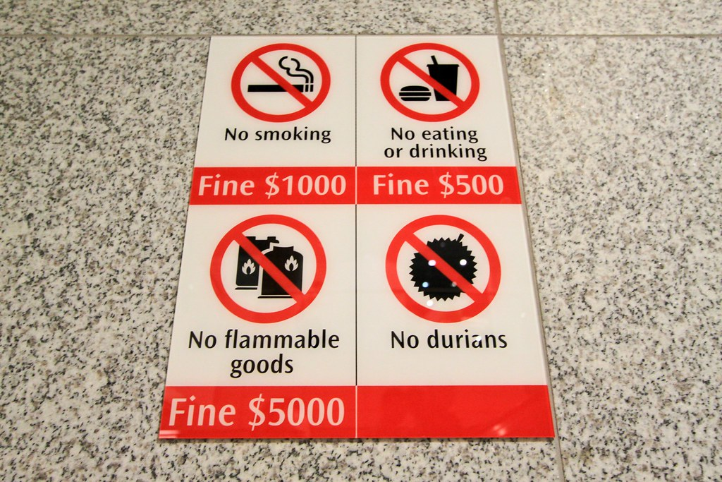 What, no fine for durians though? - Singapore