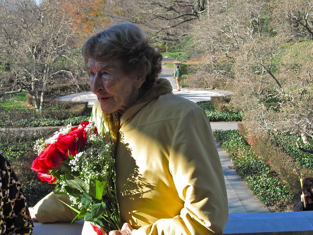 Elizabeth Scholtz, Director Emeritus celebrates 50 years at BBG. Photo by Rebecca Bullene.