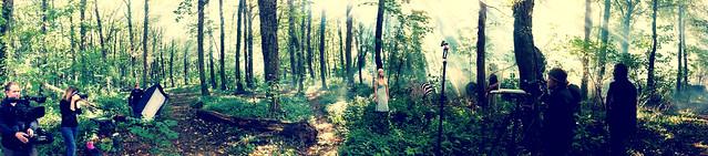 Drew Gardner Zebra and Girl Shoot - iPhone Panoramic