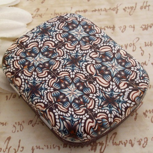 Polymer Clay Covered Tin, Pill Box, by CAG at Polymerclayshed