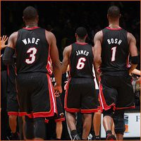 nba miami heat - Lebron James, Dwayne Wade, Chris Bosh