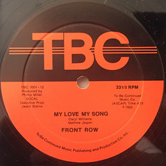 FRONT ROW:MY LOVE, MY SONG(LABEL SIDE-A)