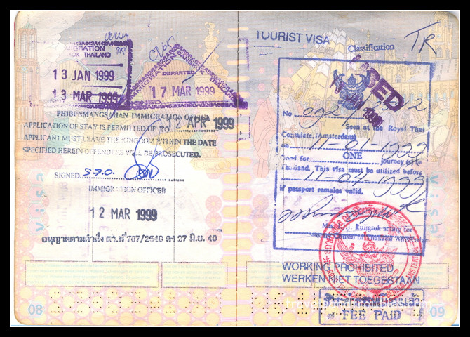 Visum Thailand