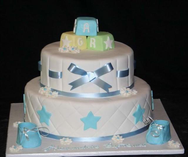 Alphabet blocks baby shower cake flickr photo sharing for Alphabet blocks cake decoration