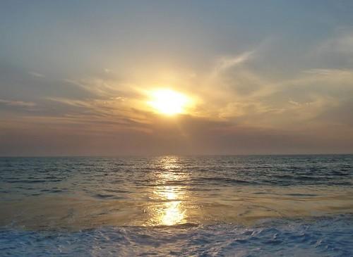 sunset sea guinea mar áfrica guinébissau