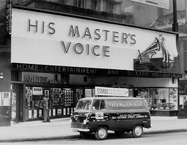 hmv 363 Oxford Street, London - Delivery van 1950s