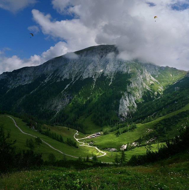 A Bird's eye view is just reserved to a couple paragliders