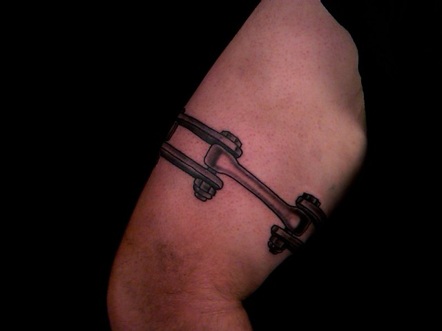 Chain tattoo around ankle for Chain tattoo on arm