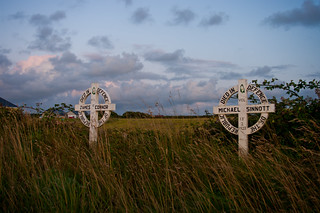 Memorial crosses to the dead of the irish civil war