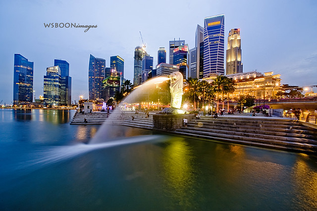 Blue Hour @ Merlion Park_8363