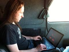 Joe in the van - Photo of Salles