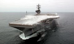 aircraft carrier, naval ship, vehicle, ship, navy, amphibious assault ship, watercraft,