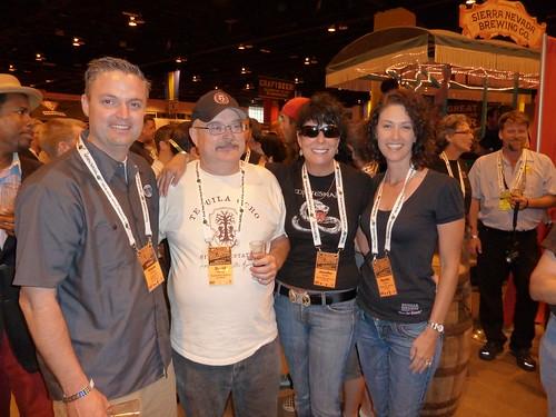 Best man Vinnie Cilurzo, Dave Keene, Jennifer Smith and maid of honor Natalie Cilurzo