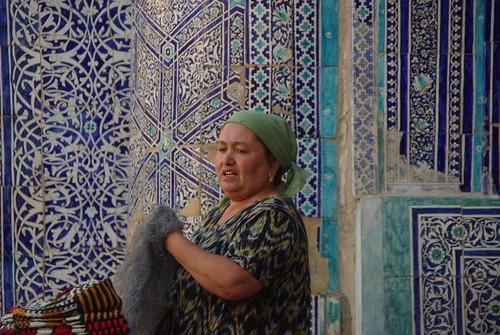Woman in Khiva, Uzbekistan