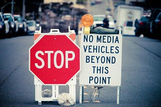 No Media Vehicles Beyond This Point, San Bruno Gas Line Explosion, 2010