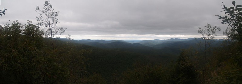 Panorama view from one of the only Sherrill viewpoints