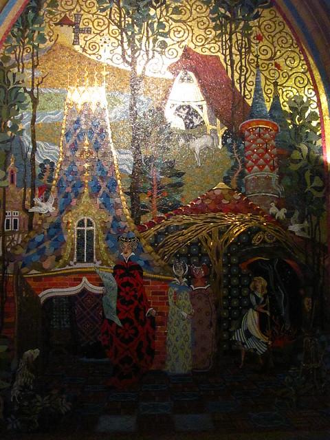 Mural inside cinderella castle flickr photo sharing for Disney castle mural