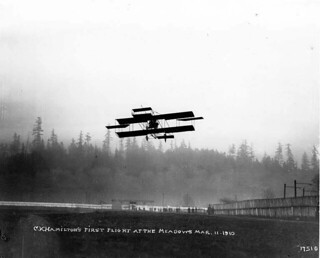C. K. Hamilton's first flight at The Meadows, Seattle, Washington