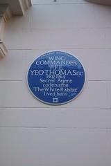 Photo of F. F. E. Yeo-Thomas blue plaque