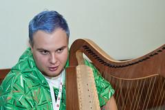 harp, close-up, string instrument,