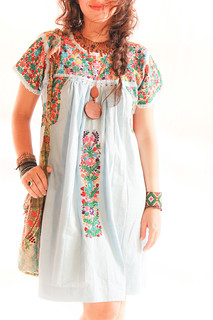 Flores en el Cielo San Antonino traditional embroidered dress