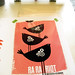 Ra Ra Riot silkscreened poster process, 2nd color registering