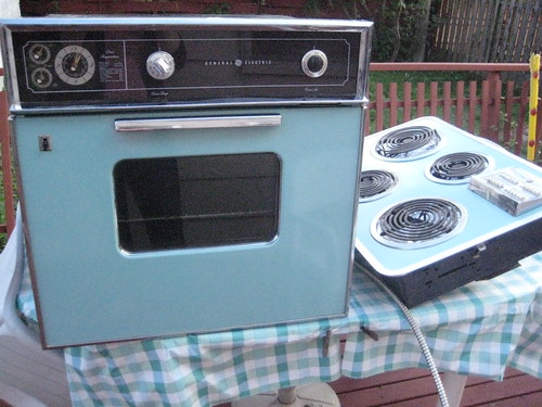 MY NEW (old) OVEN SET!!!!