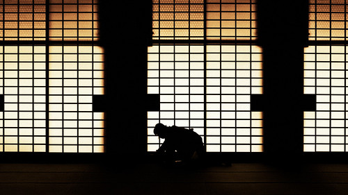 Higashi Hongan-ji sliding shōji : Kyoto, Japan / Japón