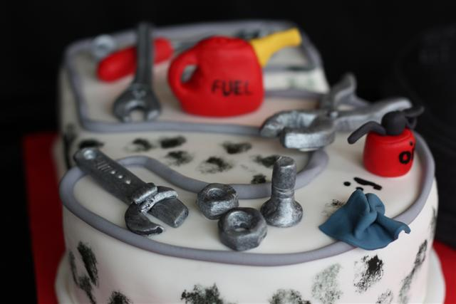 50th Birthday Cake for a mechanic  Managed to get this cake ...