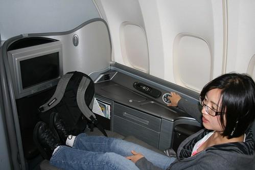 UA 747 First class seat