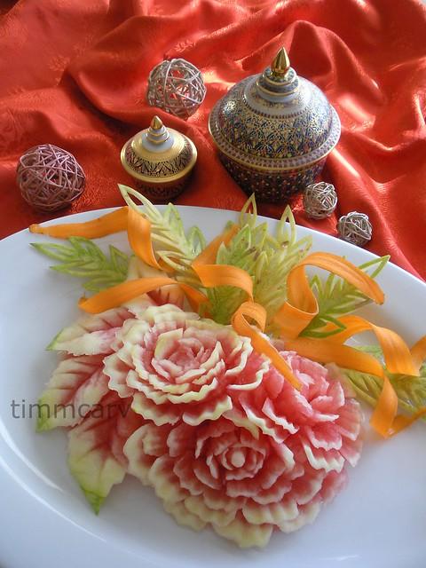 Holiday melon carving flickr photo sharing
