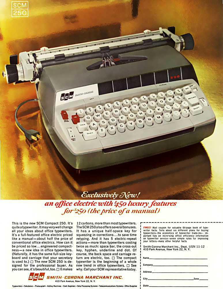 ... electric typewriter !