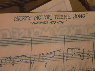 "Mickey Mouse ""Theme Song"" — ""Minnie's Yoo Hoo"", Celebration store window, Main Street U.S.A., Disneyland®, Anaheim, California, 2008.08.08 11:28"