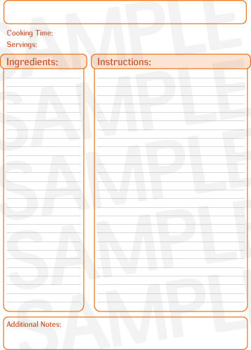 free printable editable recipe pages trials ireland