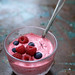 blueberry and raspberry creamy chilled yogurt
