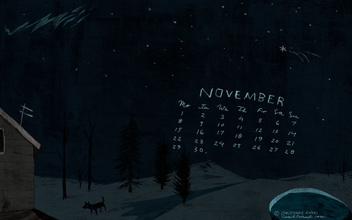 DesertFriends - November desktop calender
