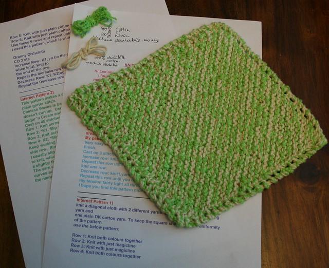 Sue's Easy Knit Dishcloth