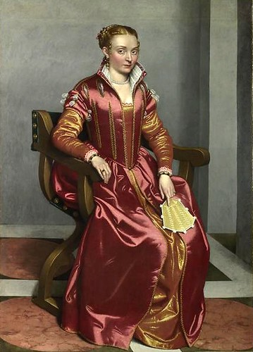 Portrait of a woman, perhaps Lucia Albani Avogadro ('La Dama in Rosso')