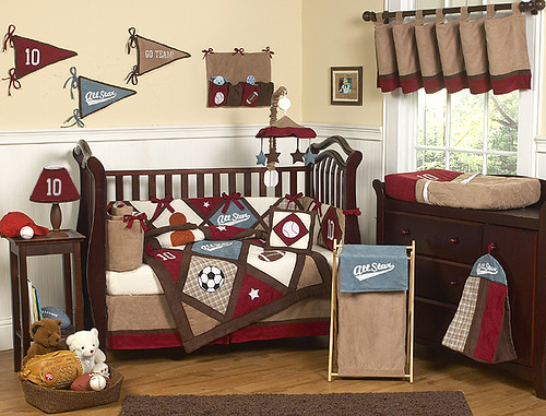 Best JoJo Designs All Star Sports Cribset at uniquelinensonline All Star Sports pc Crib Bedding set
