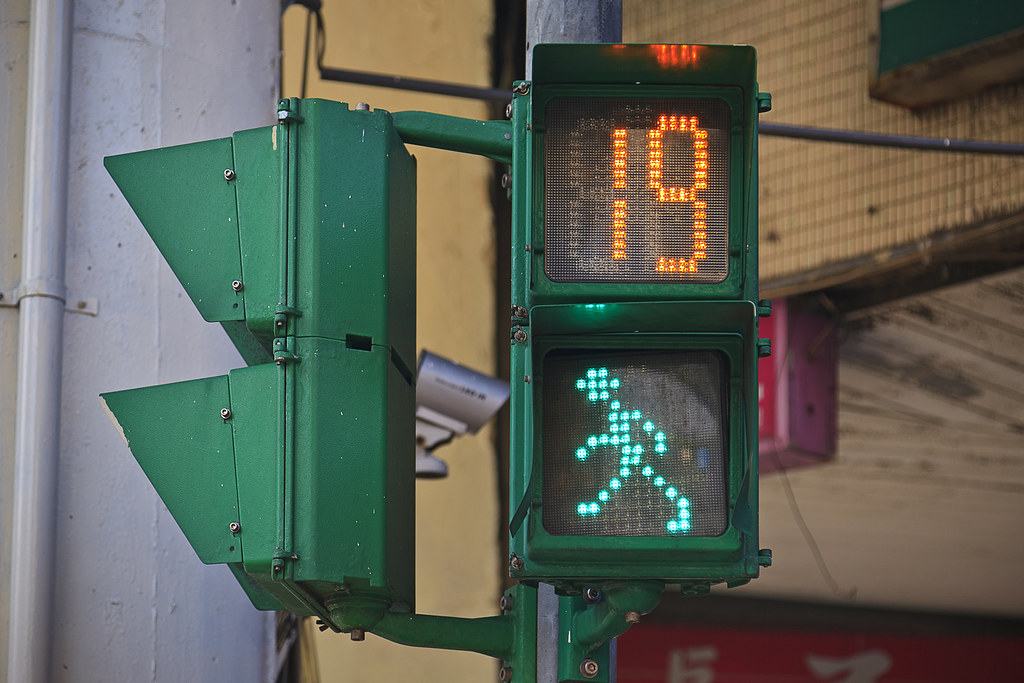 Taiwan. Taipei. Traffic lights