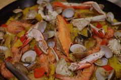 meal(0.0), seafood boil(0.0), fish(0.0), paella(1.0), food(1.0), dish(1.0), cuisine(1.0),