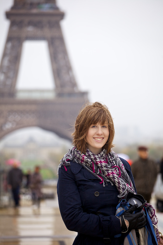 Casey at Eiffel Tower