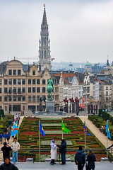 Uitzicht over Brussel vanaf de Kunstbergtuin