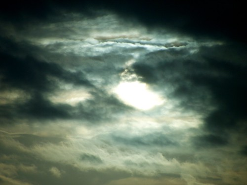 Sunsetting in clouds