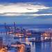 Hora azul en el puerto de Málaga by Lui G. Marín - www.luimalaga.com