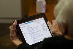 Mom Grabs the iPad