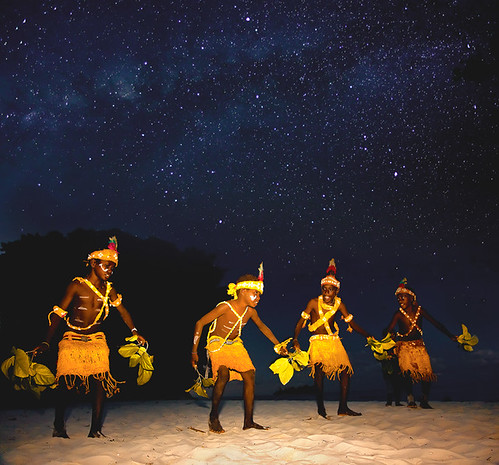 new night stars photography guinea michael dance pacific south traditional culture anderson beaches papua singsing
