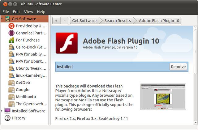 mozilla firefox flash player plugin