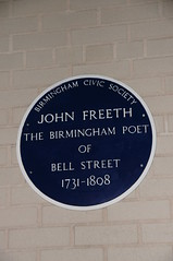 Photo of John Freeth blue plaque