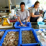 Cleaning Red Snapper for BBQ - Koh Samui, Thailand